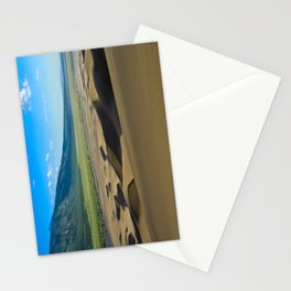 Great Sand Dunes against mountains Stationery Cards