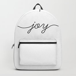 Peace love joy (3 of 3) Backpack