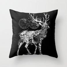Deer Wanderlust Throw Pillow