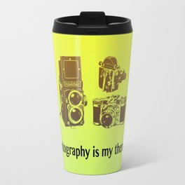Photography is my therapy Travel Mug