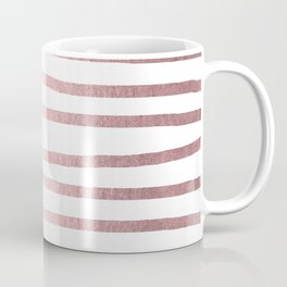 Simply Drawn Stripes Rose Quartz Elegance Coffee Mug