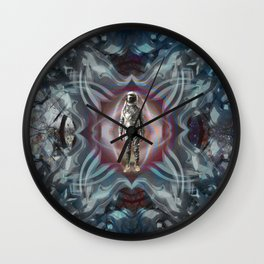 Worm Hole in Time Wall Clock