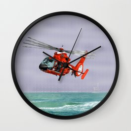 DOLPHIN RESCUE Wall Clock