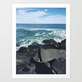 Jersey Shore Jetty Art Print