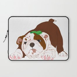 Tuff Puppy in Green Bow Laptop Sleeve