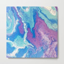 Lavender Blue Metal Print