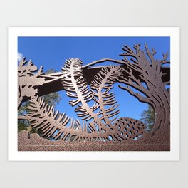 Pine branch blue skies Art Print