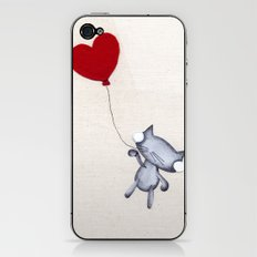 Zombie Kitty Flies Away On Valentines Day iPhone & iPod Skin