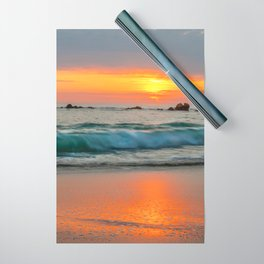 Golden sunset with turquoise waters Wrapping Paper