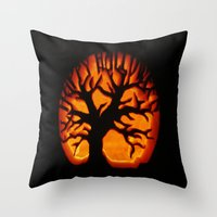 halloween Throw Pillows featuring HalloWeen by 2sweet4words Designs