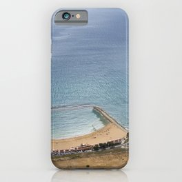 Beautiful Gibraltar rock beach view iPhone Case
