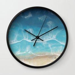 SERENITY BEACH - realistic resin seascape art, ocean art, coastal art, beach painting Wall Clock