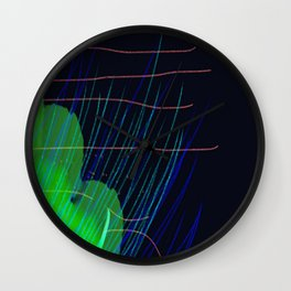 Night Grass Wall Clock