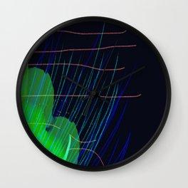 Night Grass Wall Clock