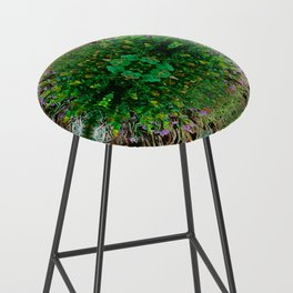Cocoplum and Cattails op nature pattern Bar Stool