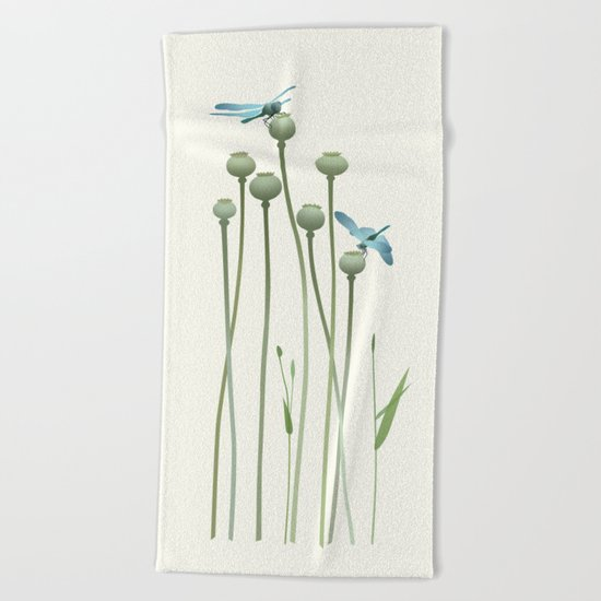Dragonfly Date Beach Towel