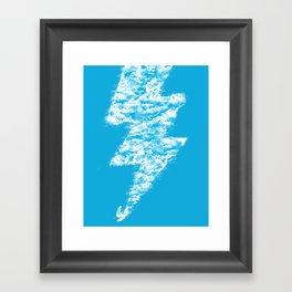 Lightning Peace Framed Art Print