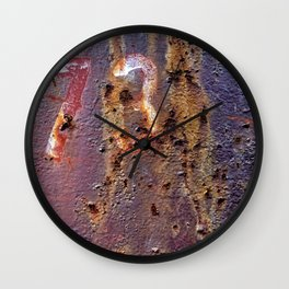 Colors of Rust _723 / ROSTart Wall Clock