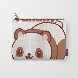 Cool Smiling Strawberry Panda Gift T-Shirt Carry-All Pouch