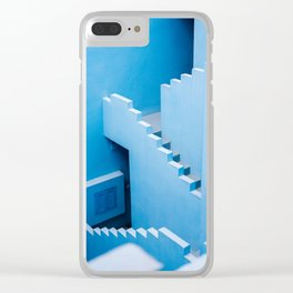 Blue maze of Muralla Roja Spain | Abstract photograph architecture art Clear iPhone Case