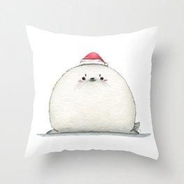 Santa Seal Throw Pillow