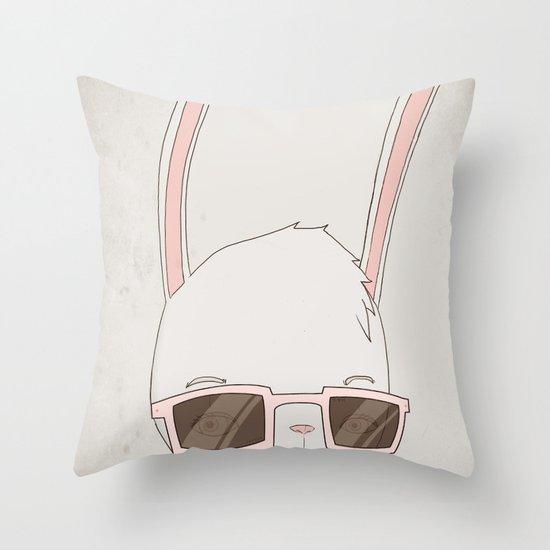 빠숑토끼 fashiong tokki Throw Pillow
