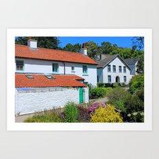Caldey Island Village.Wales. Art Print