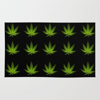 weed Area & Throw Rugs featuring Weed by Spyck
