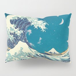 Great Wave Off Kanagawa and Starry Sky Pillow Sham
