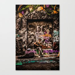Urban Busker Canvas Print