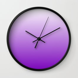White to Violet Gradient Wall Clock