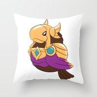 league of legends Throw Pillows featuring League of Legends: Azir by Birbles
