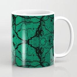 Green cracked wall Coffee Mug
