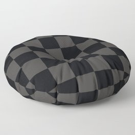 Black & Gray Checkered Pattern Floor Pillow