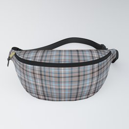Blue & Brown Checked pattern Fanny Pack