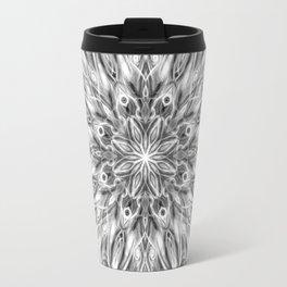 Gray Center Swirl Mandala Travel Mug