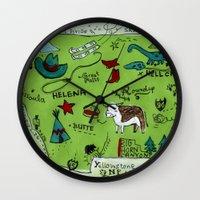 montana Wall Clocks featuring MONTANA by Christiane Engel