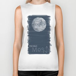 to the moon Biker Tank