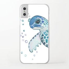 Sea turtle Clear iPhone Case