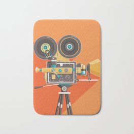 Cine: Orange Bath Mat