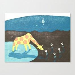 Lonesome Giraffe Canvas Print