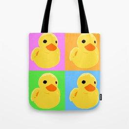 Fuzzy Duck Quad Tote Bag