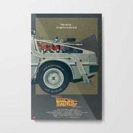 DeLorean Time Machine, Back to the Future Version 1 III/III Metal Print