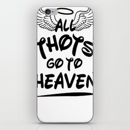 ALL THOTS GO TO HEAVEN TANK TOP iPhone Skin