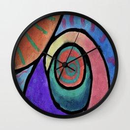 Sunny Abstract Digital Painting Wall Clock