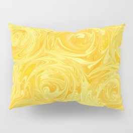 Honey Yellow Roses Abstract Pillow Sham