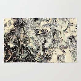 Texture Overlay Abstract Design Rug