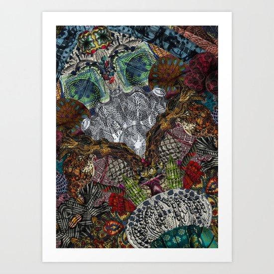 Psychedelic Botanical 13 Art Print