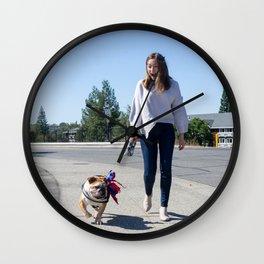 Dog by Clayton Cardinalli Wall Clock