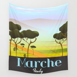 Marche Italy travel poster Wall Tapestry